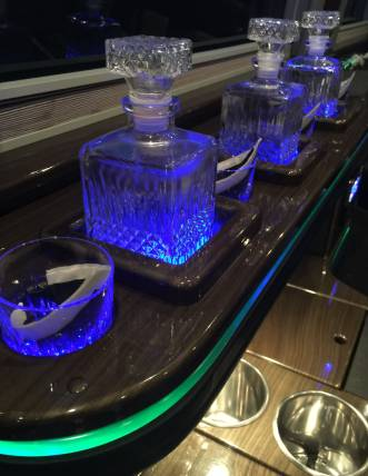 Sprinter limo bar interior