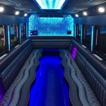 Party Bus Interior Blue Lights