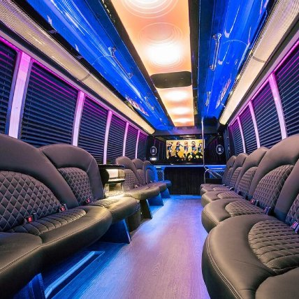Black Limo Party Bus Interior 2 | Raleigh NC