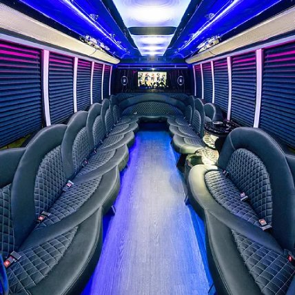 Black Limo Party Bus Interior | Raleigh NC